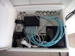 岡山市にある電気配線工事、ネットワーク構築の㈱大野木電気通信のLAN工事