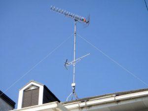 岡山市にある電気配線工事、ネットワーク構築の㈱大野木電気通信の20素子のアンテナ追加工事